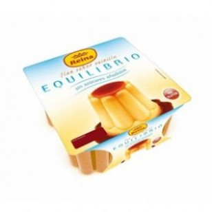 Flan Vainilla Sin Azucar EQUILIBRIO Pack-4 x 100 Gr.