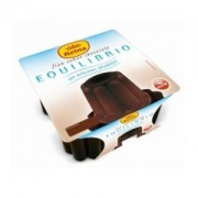 Flan Chocolate Sin Azucar EQUILIBRIO Pack-4 x 100 Gr.