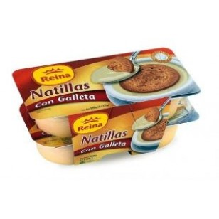 Natillas con Galleta Pack-4 x 125 Gr.